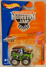 2004 HOT WHEELS MONSTER JAM, GRAVE DIGGER MINI W/ PULL BACK ACTION MOTOR, RARE