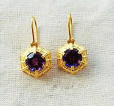 Enchanting Fine Amethyst Vermeil 14k Gold Over Sterling Silver Earring