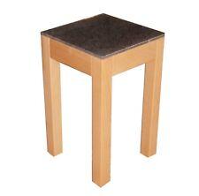 Beistelltisch, Blumenhocker Buche massiv + Granit .30,5 x 30,5 x 60,0 cm hoch.