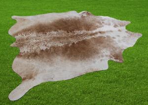 "New Cowhide Rugs Area Cow Skin Leather 22.94 sq.feet (59""x56"") Cow hide U-5972"