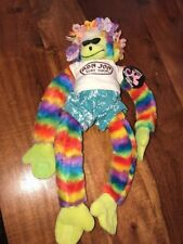 Ron Jon Surf Shop Hawaiian Monkey Stuffed Plush With Velcro Hands And Feet (JD)
