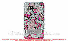 Luxmo HTC Thunderbolt 6400 Hot Pink Flower Bling Gem Jeweled Crystal Cover Case