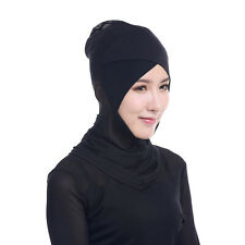 Muslim Women Bonnet Ninja Hijab Underscarf Islamic Head Cover Scarf Headwear Red