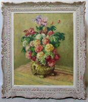 MISCHA ASKENAZY 1920s Russian Postimpressionist Still Life Flowers Oil Signed