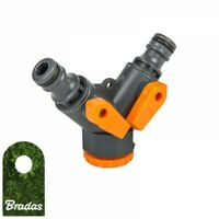 2-Wege 3/4' Hahnanschluss Schlauchverteiler für Wasserschlauch BRADAS 5381