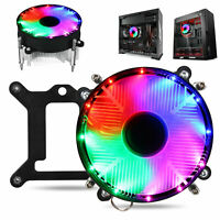 RGB LED CPU Heatsink Fan Cooler Socket for Intel LGA1156/1155/1151/1150 Aluminum