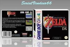 "Boitier du jeu ""ZELDA LINK'S AWAKENING DX"", Game Boy Color. HD. FR. SANS LE JEU."