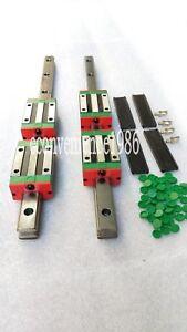 2 sets HGR20-1500mm Hiwin Linear rail & 4 pcs HGH20CA Block Bearing