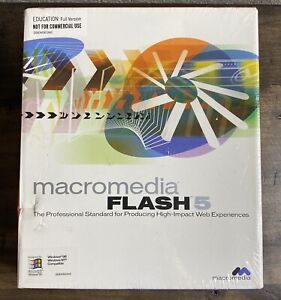 Macromedia Flash 5 Retail: Windows & Mac OS (NEW / Factory Sealed ~ FLW50D40