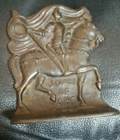 Antique Original Marked Pair Of 1920's Snead And Company Joan Of Arc Bookends