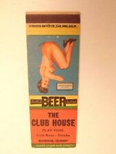 Early advertising match book cover w/ pin-up girl: The Club House, Dubois, Idaho