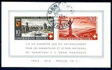 SCHWEIZ 1942 BLOCK7 gestempelt TADELLOS 300€(D4603