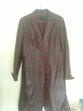 Fine Leather Coat (House of Fraser) Size S