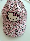 Girl kids Children H & M Hello Kitty pink 100% Cotton Golf Baseball Hat Cap 1-8y
