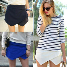 SEXY Damen Hot Pants Shorts Hosenrock kurz Mini Hosen Skirt Minirock Rock H68