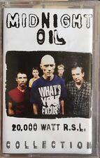 MIDNIGHT OIL 20,000 Watt RSL Oz Cassette Tape RARE
