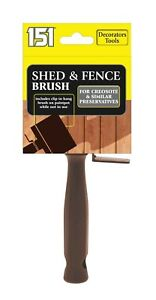 2 x Shed & Fence Brush Paint Wall Decking Painting Block Exterior Wood Work