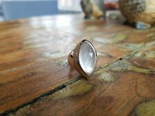 Lagos Caviar Marquise Mother of Pearl MOP Doublet Sterling Silver 925/18K Ring 7