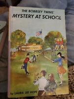 The Bobbsey Twins Mystery at School Laura Lee Hope copyright 1962