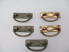 Edwardian Brass Drawer Handles Pulls Architectural Antique Vintage Hardware x4