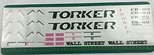 old school bmx decals stickers 1988 torker wall street full set for pink frame