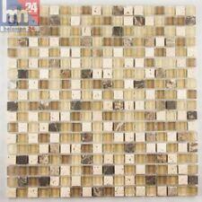 Bad Glasmosaik Nobres Naturstein Mosaikfliesen nobres 29,5x29,5x0,6cm Pool