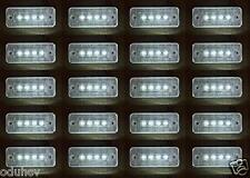20x 24v White Front Side Outline Marker 4 LED Light Chassis Trailer Lorry Truck