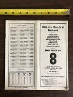 1965 Illinois Central Railroad Chicago Champaign Rantoul Employees Timetable 8