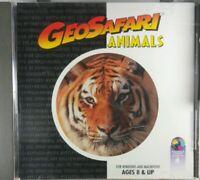 Geosafari Animals PC CD-ROM Computer Game For Windows Macintosh Vintage Rare