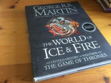 THE WORLD OF ICE & FIRE GAME OF THRONES HARDBACK 1st EDITION GRR MARTIN EPIC