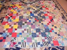 Nice Multi-Color Granny Square Pattern Quilt