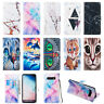 For Samsung S10e S10 S9 S8 S7+ Flip Painted Leather Case Magnetic Wallet Cover