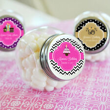 96 Personalized Birthday Party Candy Jars Favors Lot