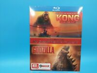 neuf film blu ray coffret 2 films kong skull island godzilla