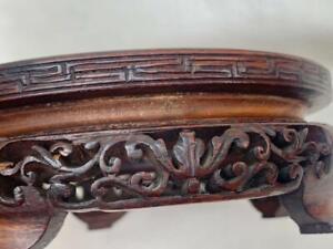 Superb Antique Chinese Hand Carved Hardwood Vase Stand.