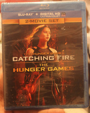 The Hunger Games + Catching Fire - 2 Film Blu ray UltraViolet Digital NEW SEALED