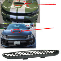 Fit For 2015-2020 Dodge Charger Front Hood Scoop Cover Center Grid Grille Trim