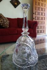 """HiL@K Vintage The European Collection Crystal Hand Bell Made in W Germany 8"""" Ni"""