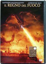 Dvd Il Regno del Fuoco - Ologramma tondo con Christian Bale 2002 Usato