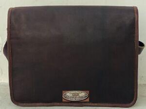 Gift For Man Leather Business Messenger Laptop Shoulder Briefcase Satchel Bag