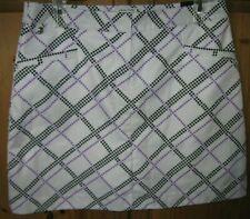IZOD Golf Women's Skirt Skort White Black Purple Geo Print size 6 New