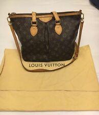 Authentic LOUIS VUITTON Monogram Palermo PM Shoulder Tote Bag Purse