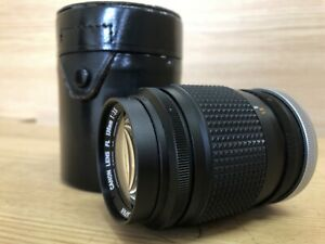 Near Mint w/ Leather Case Canon FL 135mm F/3.5 Telephoto Lens From Japan