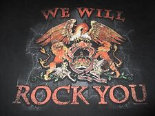 "2008 Queen ""We Will Rock You"" (3Xl) T-Shirt Freddie Brian Roger John"