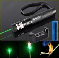 900miles Green Red Blue Purple Laser Pointer Pen Rechargeable 18650 Lazer Light