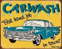 Funny Vintage Car Wash Metal Sign Garage Shop Dorm Game Room Wall Decor Gift