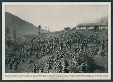 K.u.K camp de prisonniers italiens 12. ISONZO bataille Casernes Grevena-Vallée sontig 1917