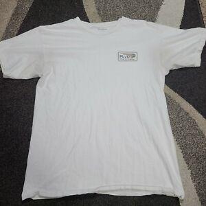 Brixton T Shirt Medium White Double Sided Short Sleeve MFG Quality Company