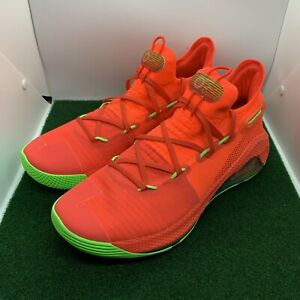 """Under Armour Curry 6 """"Roaracle"""" 3020612-607 Red Basketball Shoes Men's Size 13"""