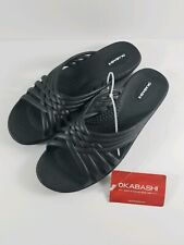 New with Tag Okabashi Women's Venice Sandal Color Black Size M 6.5-7.5